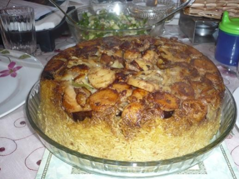 Maqluba is considered the icon of Palestinian food