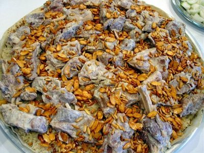 Mansaf recipe palestinian cuisine the flavors are wonderful and as mansaf means explosion in arabic you will find that the way it is served looks like an explosion forumfinder Gallery
